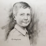 Charcoal drawing - portrait of a boy
